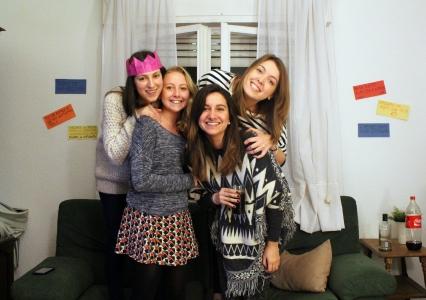 Madrid flatmates, Irene, Barbara, Ainara y yo :)