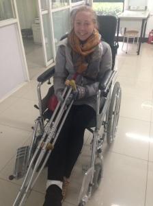 Me and my broken foot!