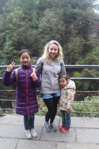 The adorable kids and I in Wulingyuan National Park, Zhangjiajie