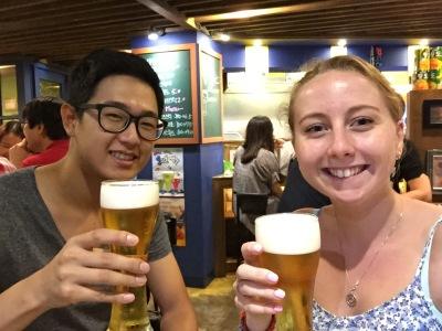 Jisoo and I having a Korean Beer - 24th June