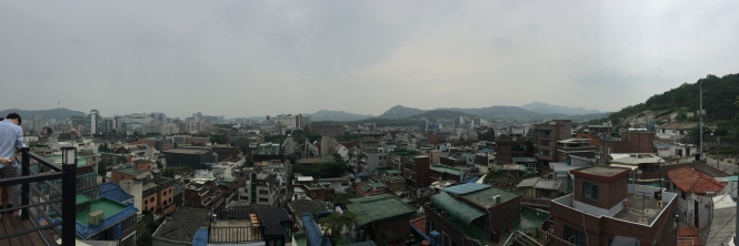 Naksan Park view, Seoul - 25th June