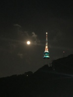 Excuse the blurriness, the view of the Seoul Tower, July 2015