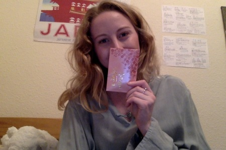 Me with my envelope!